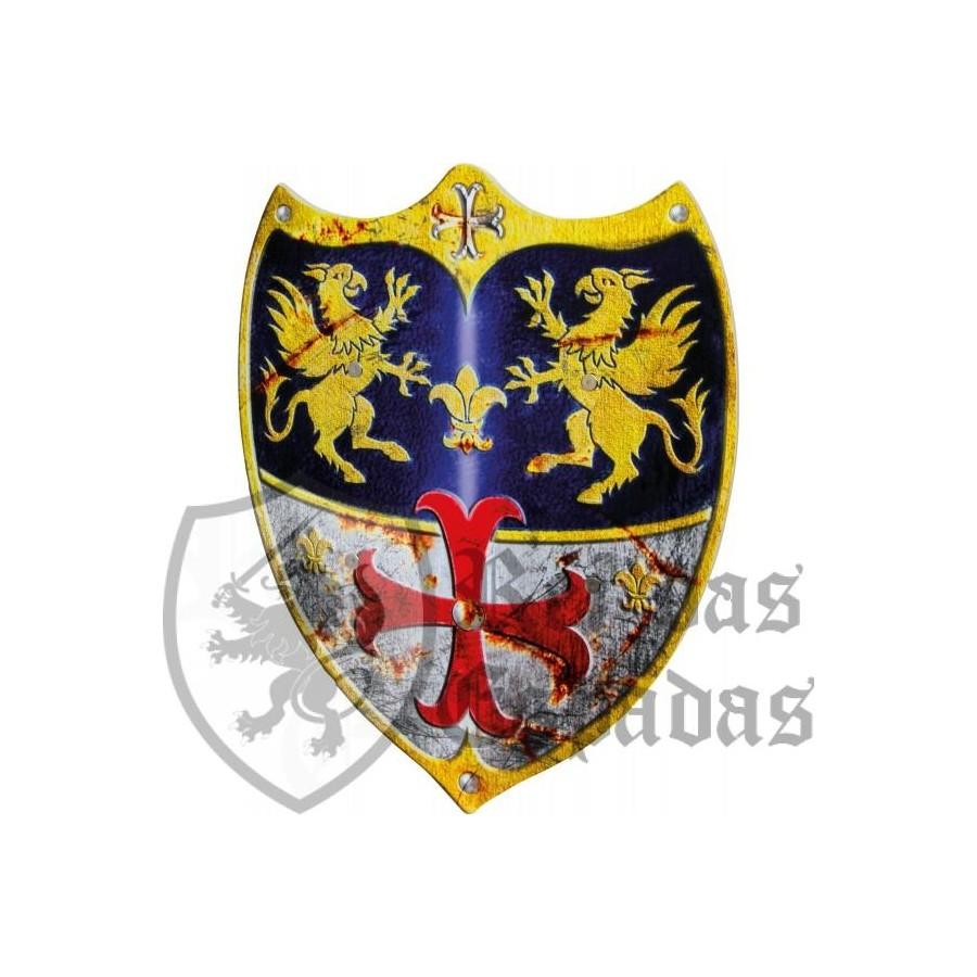 Escudo medieval madera niño