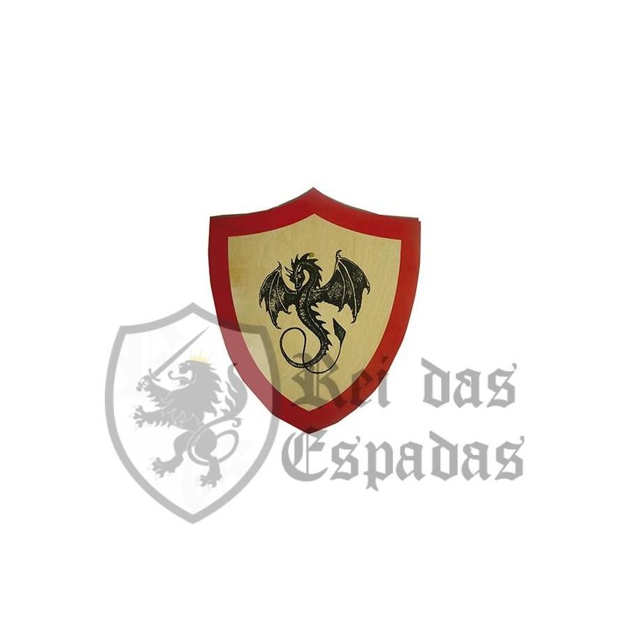 Escudo niño madera dragón