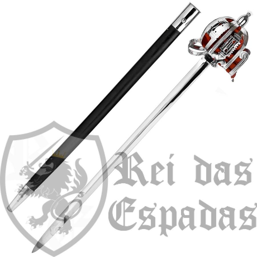 Espada cesta de lazo con vaina