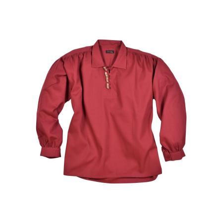 camisa medieval con los botones de madera