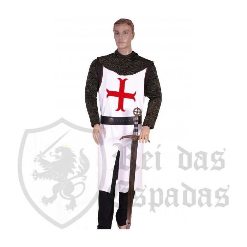 Traje medieval hombre Templario Talla Contorno de pecho cms.