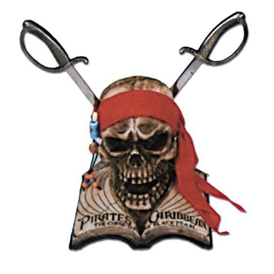 Crânio com 2 Espadas Piratas das Caraíbas