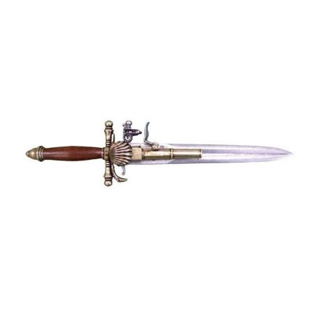 Francés del siglo de la pistola-18 de daga