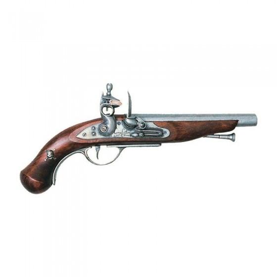 Pistola pirata frança, do século XVIII