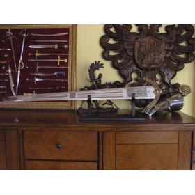 Espada Marco Polo em dourado sem bainha - 3