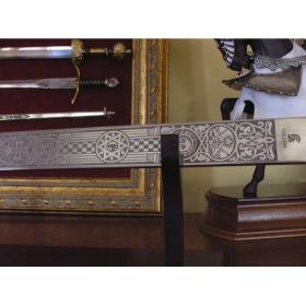 Espada Maçónica Prata sem bainha - 4