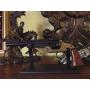 Revolver fabricado pela Smith & Wesson preto e dourado - 4