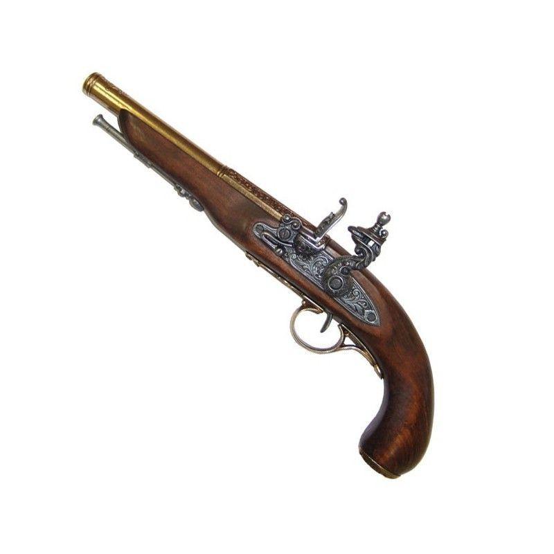 Pistola Flintlock, século XIX. (Mão esquerda), modelo 1 - 1