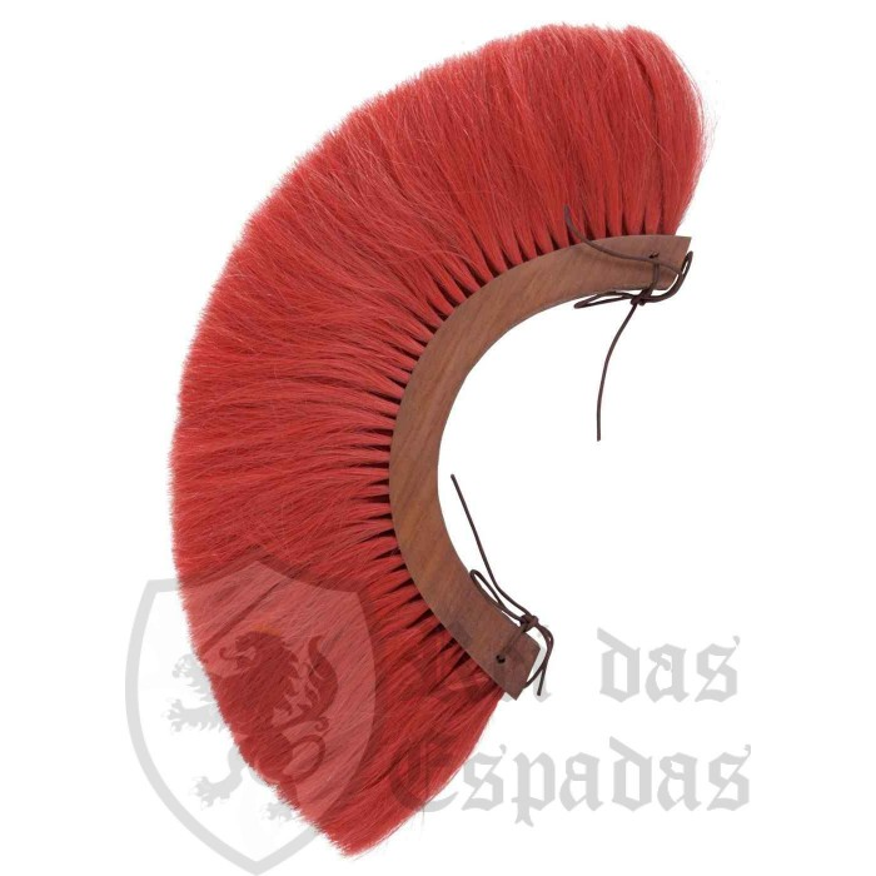 Plume vermelho do capacete romano