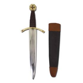 Adaga Medieval dos Templarios com bainha - 2