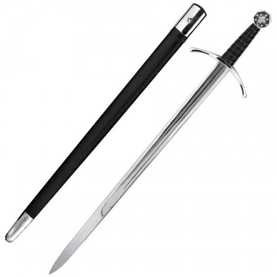 Functional Templar Sword of St. George in EN-45 Steel with sheath - 4