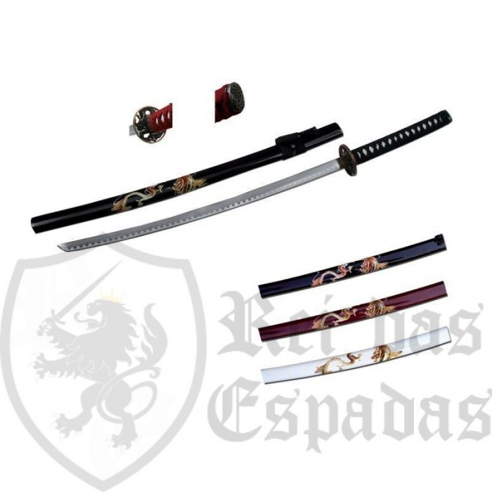 Katana Dragon, White Color - 1