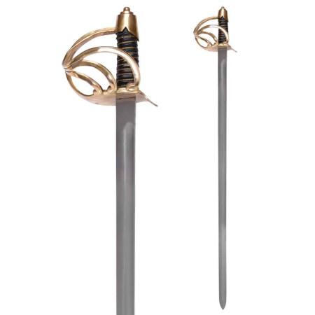 Épée de cavalerie lourde des États-Unis avec gaine d'acier