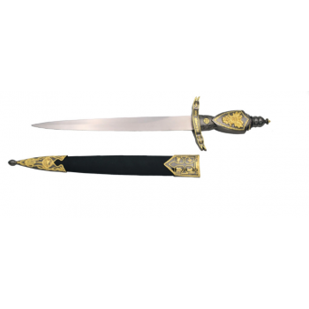 Medieval dagger with sheath - 3