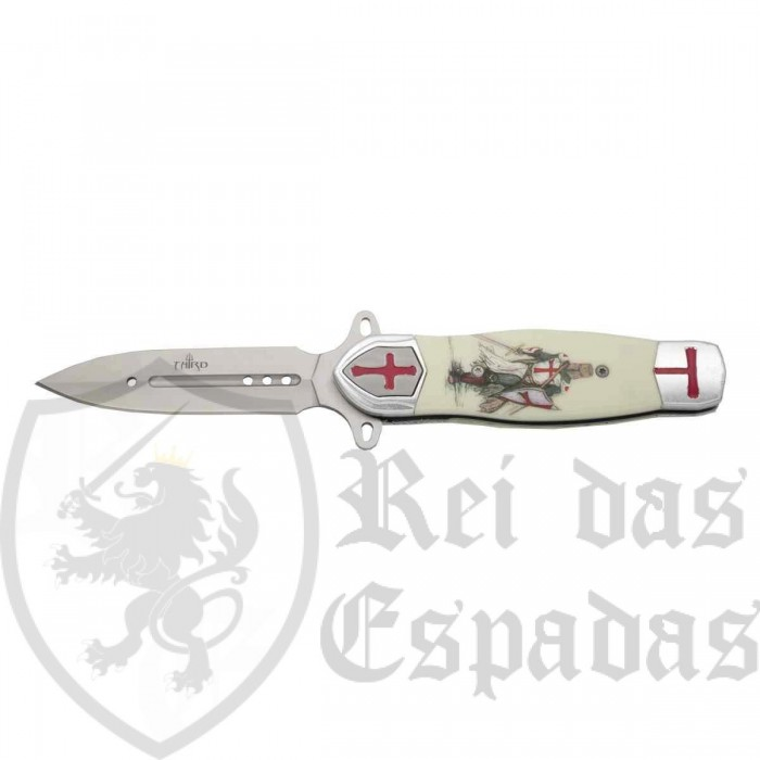 Knife with Templar Shield - 4
