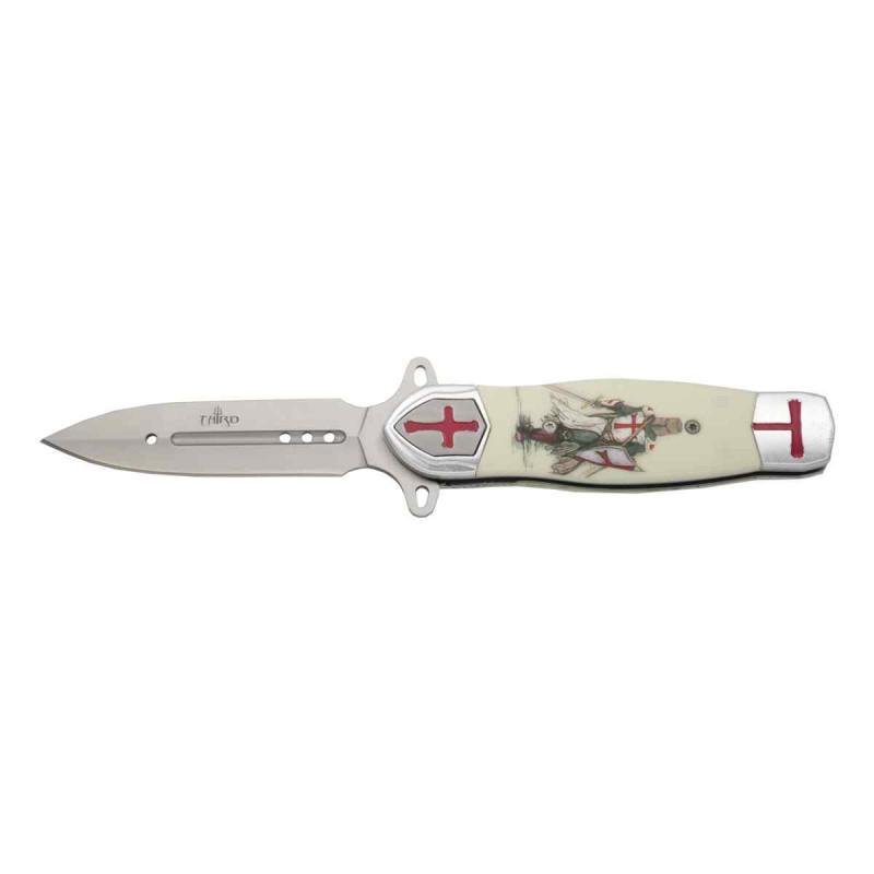 Cuchillo con escudo Templarios - 4