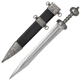 Espada Gladius preta e prateada com bainha,modelo12 - 1
