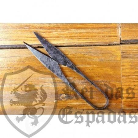 Tijera medieval en acero forjado a mano