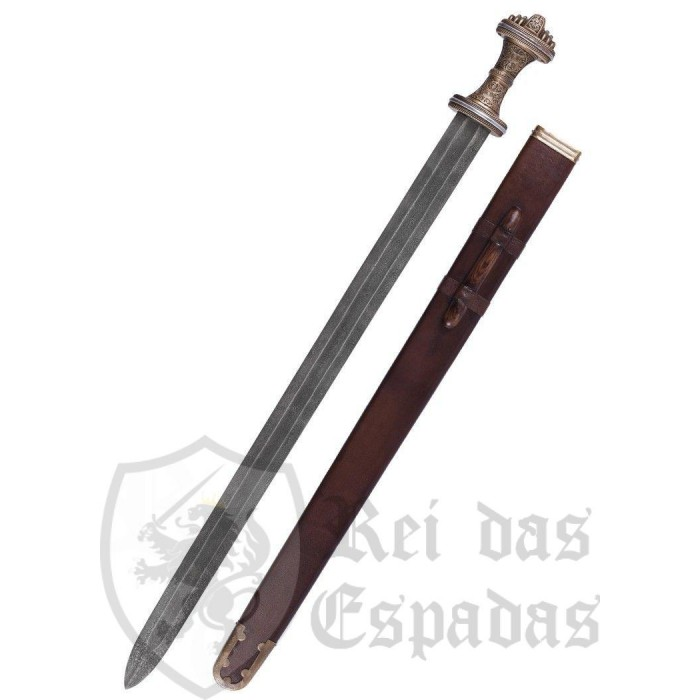 Anglo-Saxon Fetter Lane Sword with Sheath, 8th c., Damascus Steel Blade - 1