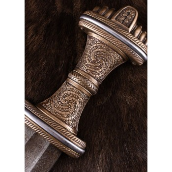 Anglo-Saxon Fetter Lane Sword with Sheath, 8th c., Damascus Steel Blade - 4