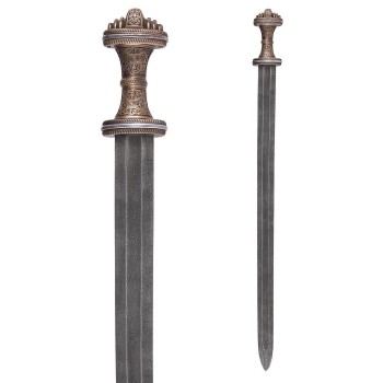 Anglo-Saxon Fetter Lane Sword with Sheath, 8th c., Damascus Steel Blade - 5