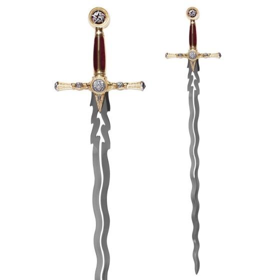 Flaming Masonic Sword - Grand Master - 2