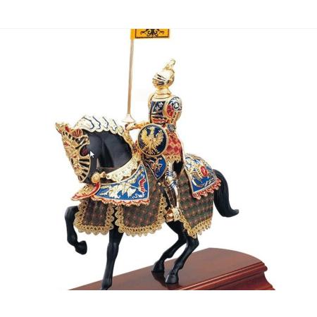 Caballero Aleman con caballo 35 cm