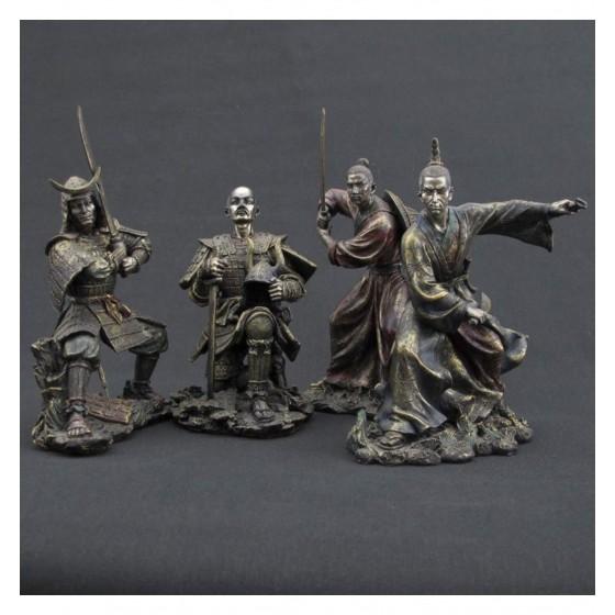 Conjunto de 4 samurais da guarda do palácio real