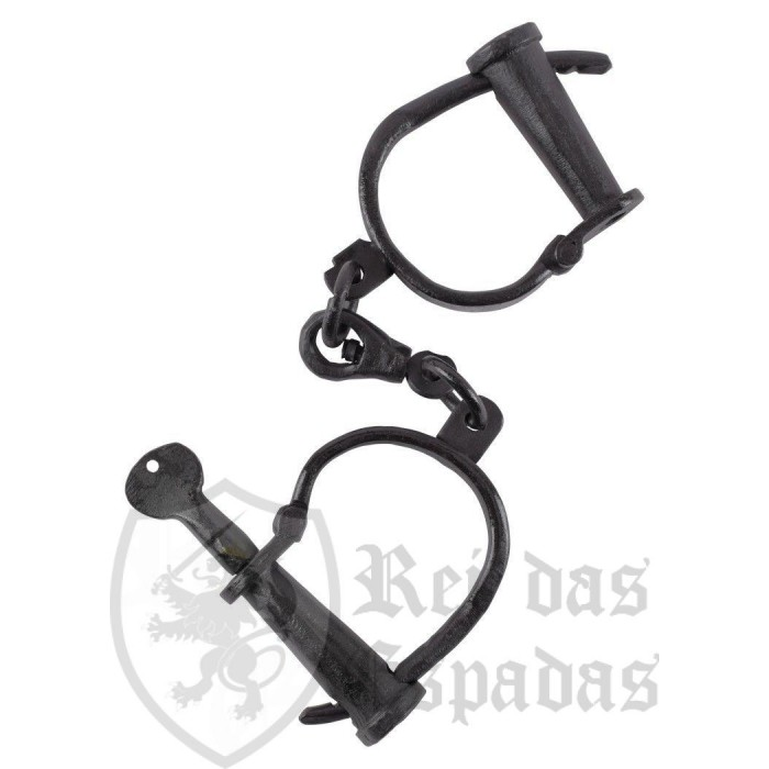 Medieval handcuffs in hand-forged steel - 1
