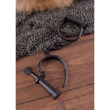 Medieval handcuffs in hand-forged steel - 2