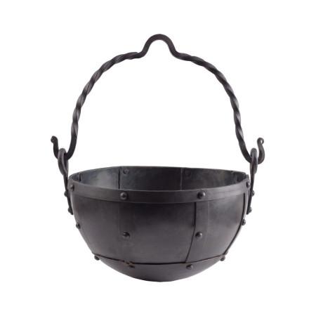 riveted steel cauldron