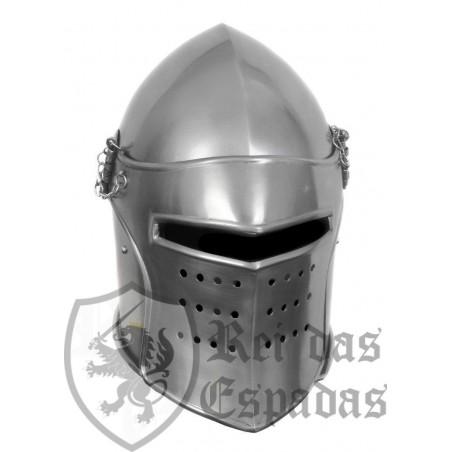 Medieval Bascinet with articulated visor, 1.6 mm steel