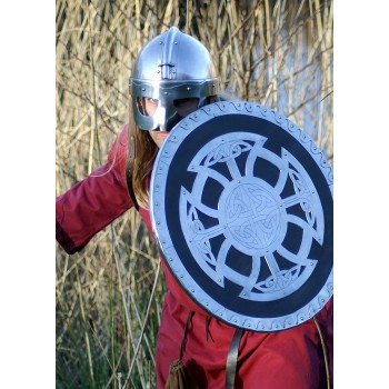 Wooden and steel Viking shell - 5