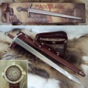 Functional Crossed Accolade Sword with Sheath - 5