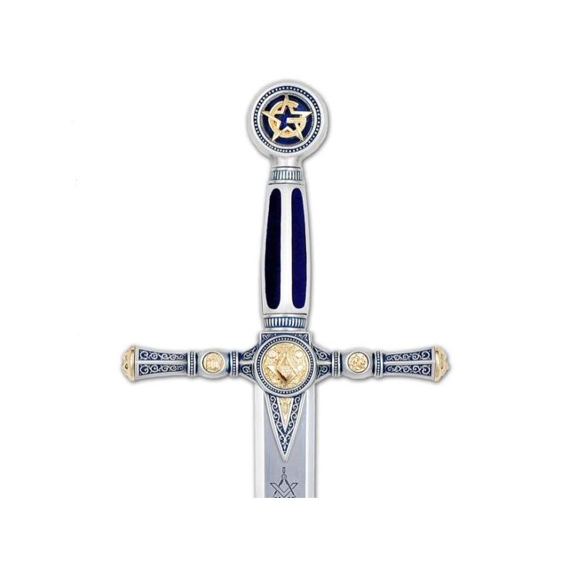Espada Masónica Plata - Esmalte Azul - 1