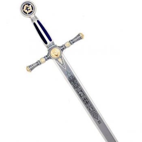 Espada Masónica Plata - Esmalte Azul - 2