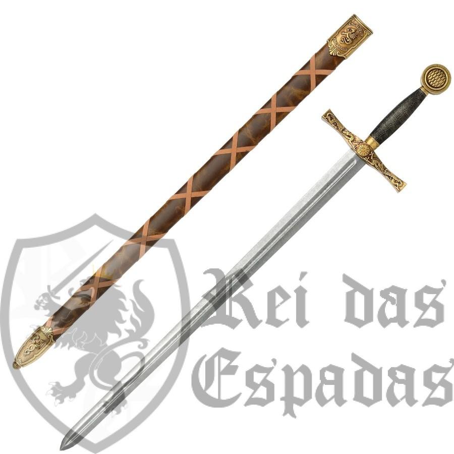 Espada dourada Rei Artur com bainha - 2