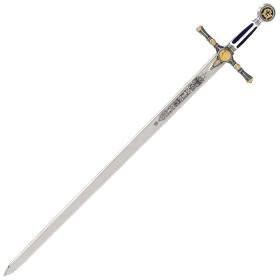 Espada Masónica Plata - Esmalte Azul - 6