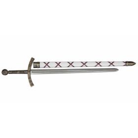 Espada de Payens Hugo branco com bainha - 2