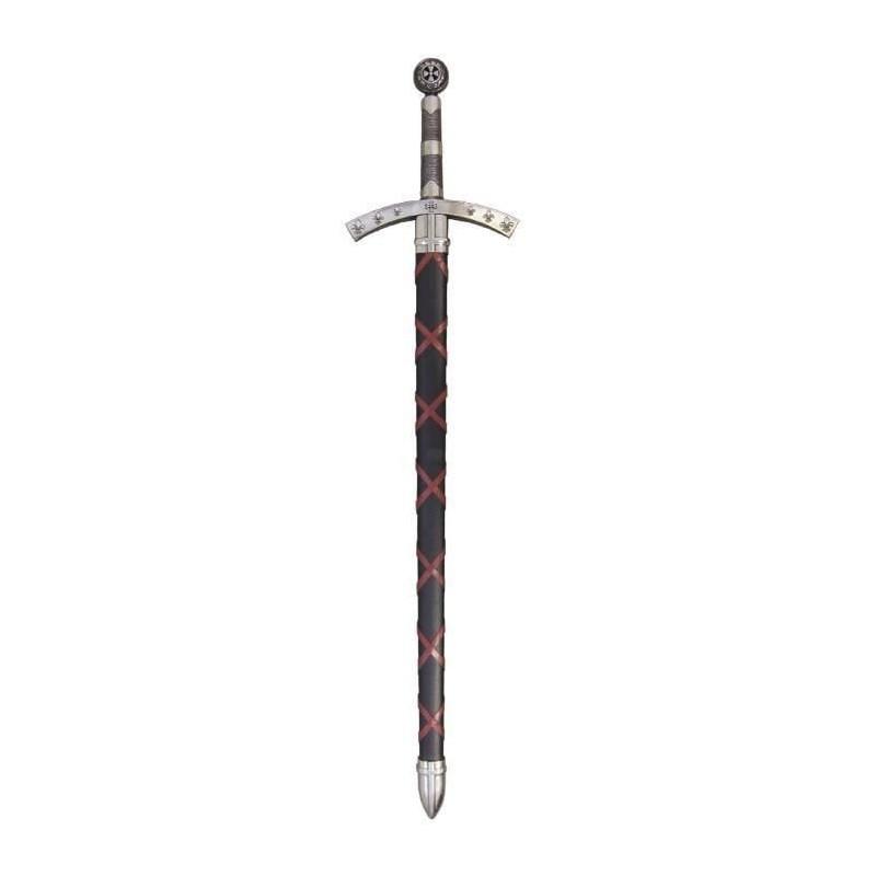 Espada de Payens Hugo preto com bainha - 2