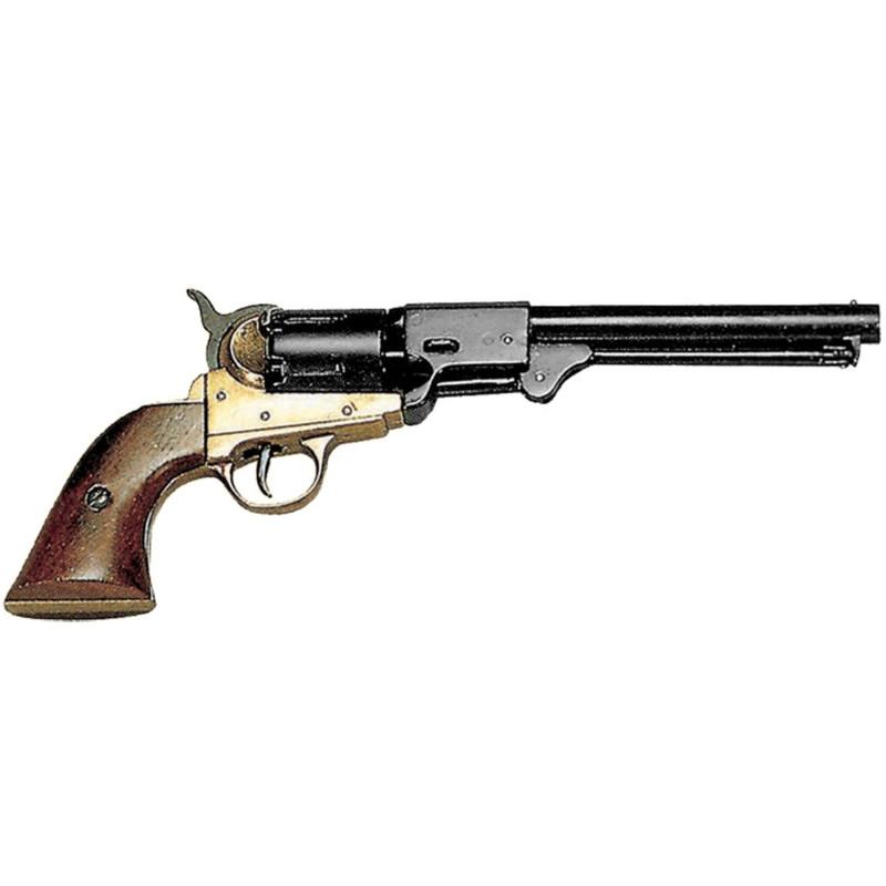 Revólver Guerra Civil EUA ,1862 preto e dourado - 2