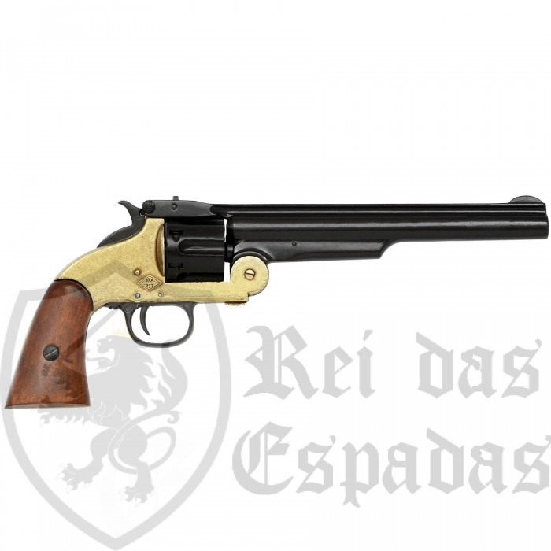 Revolver fabricado pela Smith & Wesson preto e dourado - 5