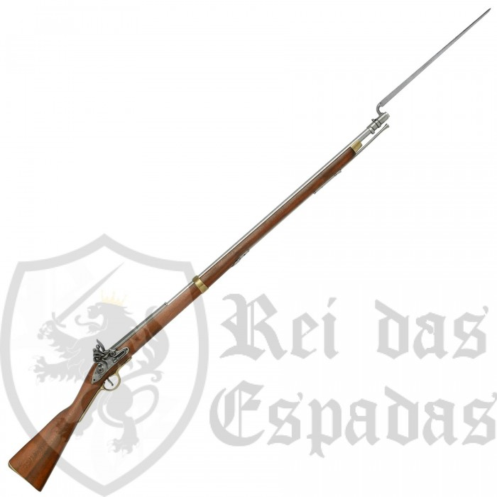English Musket Brown Bess with Bayonet (1799-1815) - 2