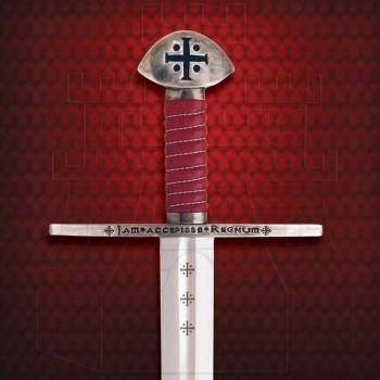 Functional Templar sword with sheath - 3