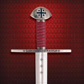 Espada templária funcional com bainha