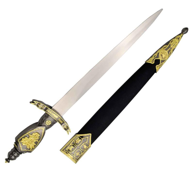 Dague médiévale avec gaine - 5