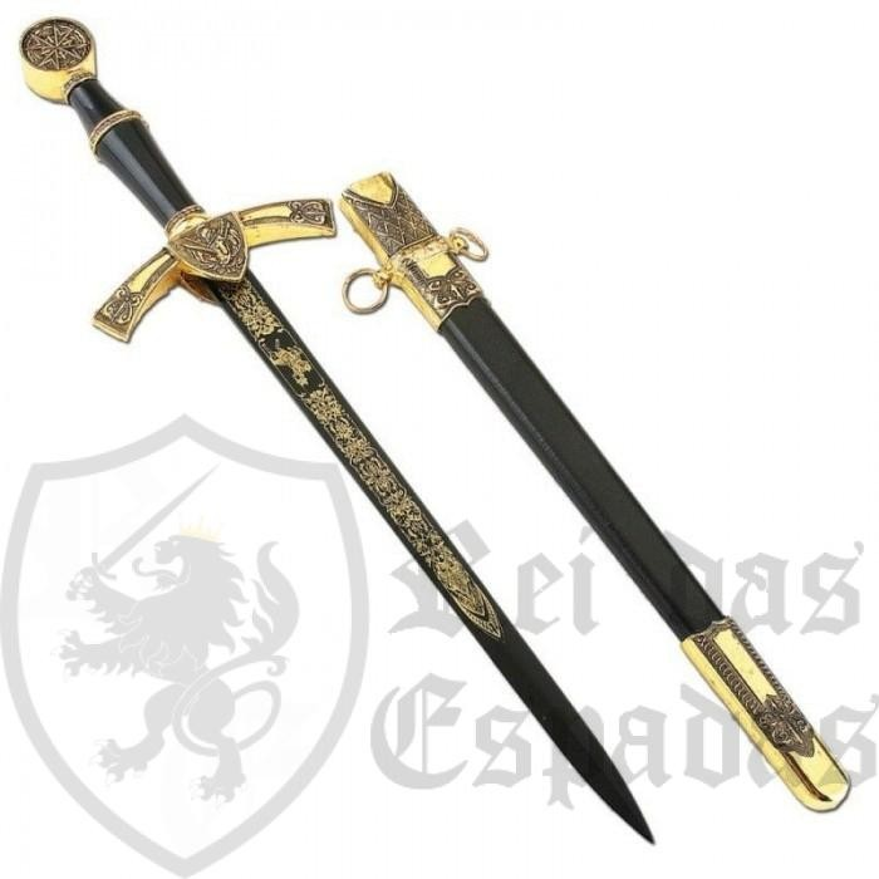 Dague médiévale con vaina - 3