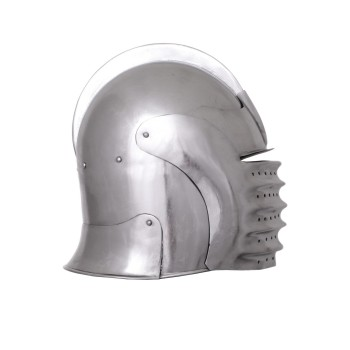 Medieval celada with visor, year 1490, functional - 5