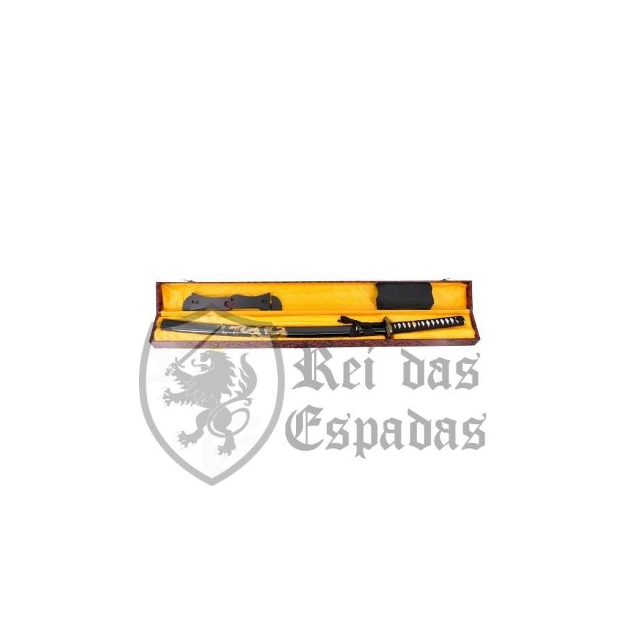 Kit Katana Functional Blade AISI 1045 with box - 7