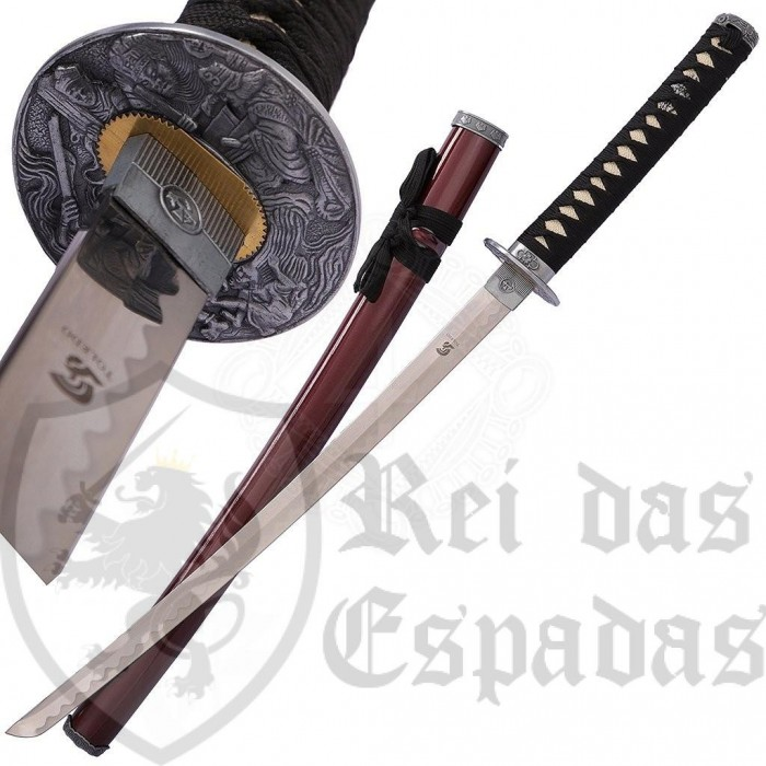 Wakizashi red sheath - 2